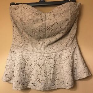 Nude Lacey Strapless Top
